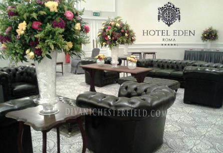 Arredi Chesterfield Antique Green per Evento Privato Hotel Eden - Roma - Primavera 2014